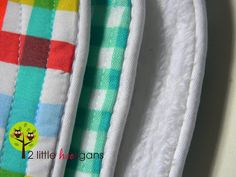 burp cloths with piping