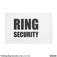 Shop Wedding Ring Security Pillow Case created by Spot_Of_Tees. Ring Bearer Security, Ring Bearer Pillows, Ceremony Decorations, Pillow Cases, Vibrant Colors, Wedding Rings, Vivid Colors, Ring Security, Wedding Ring