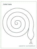 spiral snake template
