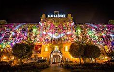 Ha november, akkor Márton napi libalakoma és Danubius Hotel Gellért Borfesztivál - #NightProjection #fényfestés November, Night, November Born