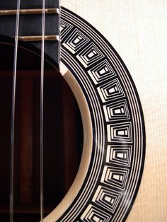 Gregory Miller classical guitar rosette of ebony and holly.