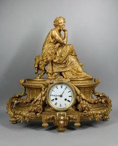 Antique Louis XVI style table/mantel clock : Maison dAntique | Ruby Lane