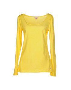 CLARK JEANS Women's T-shirt Yellow S INT