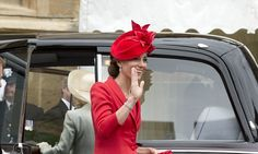 The Duchess wears red for the Garter Service at Windsor Castle