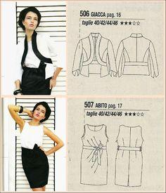 La Mia Boutique Dress and Jacket #blackandwhite