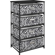 Ameriwood Home Sidney 4 Bin Storage End Table Zebrablack with regard to size 2000 X 2000 Zebra Print Canvas Storage Bins - Pollution is one of the best Fabric Bins, Fabric Storage, Decorative Storage, Woven Fabric, End Tables With Storage, Table Storage, Storage Bins, Storage Cabinets, Storage Ideas