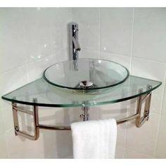Resultado De Imágenes De Google Para Http://ecx.images Amazon. Glass  BathroomBathroom IdeasBathroom SinksCorner ...