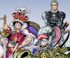 ( Le Roi des Pirates ça sera moiii ! } LuffY ~ Luffy Monkey D., Zoro Roronoa et Chopper Tony Tony ~ ⚓️ One Piece ⚓️