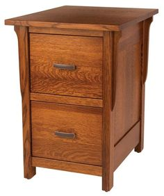 Amish Boston Mission File Cabinet You can select 2, 3, or 4 drawers for the Boston Mission File Cabinet. Select wood type, finish and hardware too. Completely customizable Amish furniture.