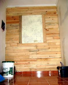 Pallet Accent Wooden Wall - 50+ DIY Pallet Ideas That Can Improve Your Home   Pallet Furniture - Part 2