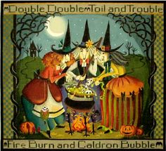 Melissa Shirley Designs | Hand Painted Needlepoint | Double, Double, Toil and Trouble