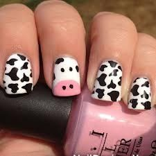 Interesting and funny animal nails design.Choose from inspiring kitty nail art, owls animal nails design or cute clumsy piggy. Animal Nail Designs, Animal Nail Art, Black Nail Designs, Nail Polish Designs, Beautiful Nail Designs, Nail Art Designs, Nails Design, Monster Nails, Cow Nails