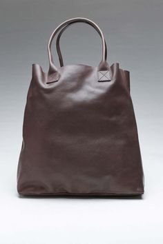 Leather tote.