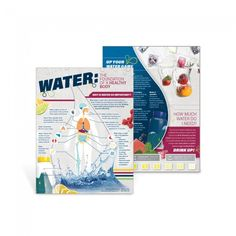 "Discover the many roles and functions water plays within the human body with the Water: The Foundation of a Healthy Body Handouts.  8 ½"" x 11"", 50 sheets, 2-sided"