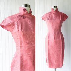 Cheongsam 1950er Jahre wiggle Kleid / Jahrgang von MemoryThought
