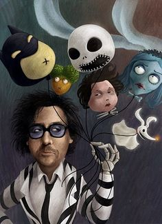 What a cool depiction of Tim Burton!