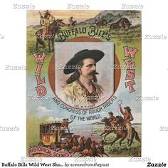 1910 Buffalo Bill /& Pawnee Bill Wild West Show Vintage Style Circus Poster 20x30