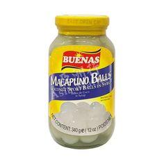 Buenas Macapuno Balls Coconut Sport Balls in Syrup 340g
