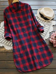 SHARE & Get it FREE   Pockets Checked Shirt DressFor Fashion Lovers only:80,000+ Items • New Arrivals Daily Join Zaful: Get YOUR $50 NOW!