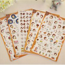 5 Blatt Hochwertigen Kawaii Cartoon Kleines Mädchen Aufkleber Tagebuch Planer Zeitschrift Sammelalbum Notebook Ablums Dekorative Langlebig D40(China (Mainland))
