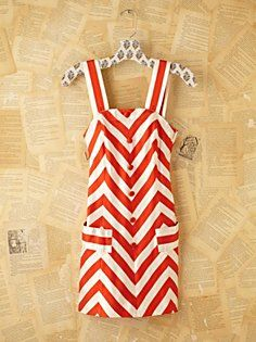 Vintage Courreges Striped Mini Dress
