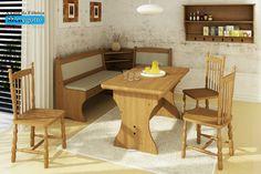 Canto Alemão;madeira Maciça ;mesa E Cadeira;banco;rustico - R$ 2.690,00 no MercadoLivre