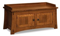 Amish Modesto Bench with Two Doors