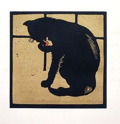 'the uncommon cat' by william nicholson, 1900
