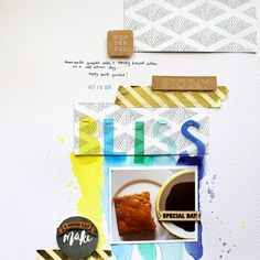 1 photo + scraps +minimal