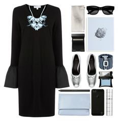 """black / blue / silver"" by foundlostme ❤ liked on Polyvore featuring Form Us With Love, Warehouse, Ek Thongprasert, Topshop, shu uemura, Belkin, Illamasqua, J.W. Anderson, Sun Buddies and SUQQU"
