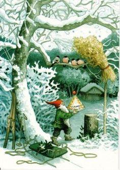 Kersttaart voor de vogeltjes