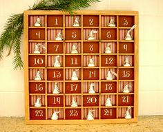 type tray Advent calendar