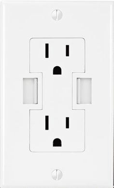 an outlet with two USB connections on it.  As the prices drop for these I think I'll put a couple on the outlets above my kitchen counter.