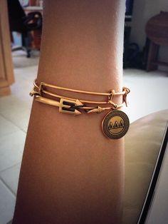 new @Alex and Ani @Delta Delta Delta Fraternity bracelet and trident bracelet