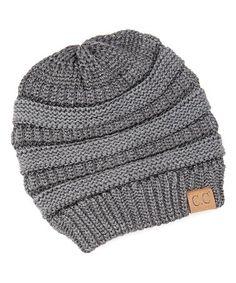 62f8770a999 C.C® Gray Metallic Knit Beanie
