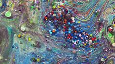Paint, Oil, Milk, and Honey Mix in this Surreal Macro Video of Swirling Liquids by Thomas Blanchard » FREEYORK