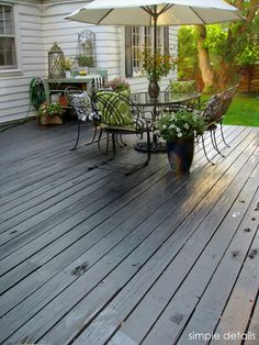 we stained our deck black