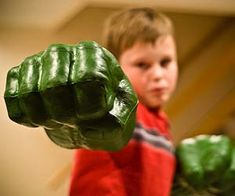 All puny humans will bow down to the awesome power of your offspring once they put on the Incredible Hulk smash hands. Both monstrous fists are clenched for...