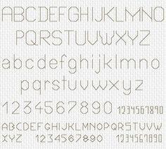 cross stitch alphabet - Google-søk                              …