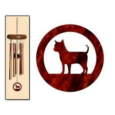 Chihuahua Wind Chimes X-SMALL Bronze. These beautiful Chihuahua wind chimes make a delightful gift for the Chihuahua lover in your life.  Dog windchimes make a thoughtful and musical birthday gift, mothers day gift, anniversary gift or Christmas gift.  The X-Small size produces light and peaceful tones when the wind blows.  The X-Small wind chime is 15 inches long. This wind chime ships directly from the manufacturer to addresses within the United States only. Express shipping may not be…