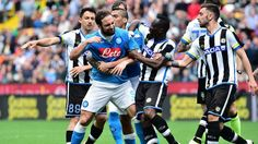 Napoli striker Gonzalo Higuain has received a four-match ban after appearing to push a referee following his red card against Udinese. The Argentine, who has scored 30 Serie A goals this season, ha…