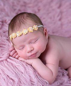 Look at this #zulilyfind! Gold Iridescent Sequin Flower Headband #zulilyfinds