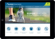 Track your food & activity on the go with #SuperTracker. See how you stack up. #healthtech #MyPlate #nutrition #fitness