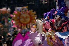 Riders in the Krewe of Rex parade through the city during Mardi Gras day on February 24, 2009 in New Orleans, Louisiana.