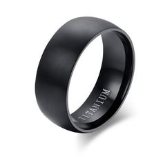 Black Titanium Wedding Rings For Men And Women #Meaeguet
