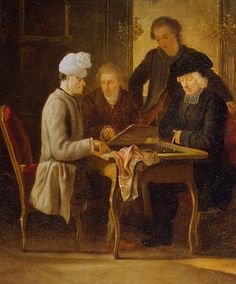 Voltaire at a Chess Table, 1750-75 by Jean Huber (Hermitage)