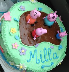easy peppa pig cake - Google Search