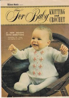 For Baby  Knitting and Crochet Pattern  1971 by jennylouvintage