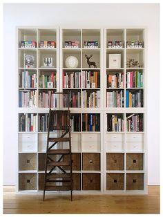 Ikea Expedit bookshelves done beautifully