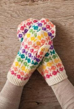 swedish fish mittens - pattern is easily memorized so the knitting moves quickly. SpillyJane Knits.